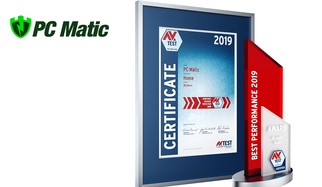 AV-TEST Award 2019 para PC Matic