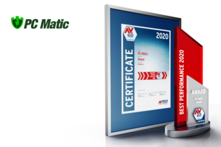 AV-TEST Award 2020 for PC Matic