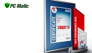 AV-TEST Award 2020 für PC Matic