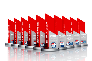 AV-TEST Awards for 2020: Only the best security products receive the AV-TEST Award.