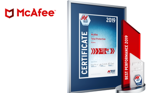 AV-TEST Award 2019 for McAfee