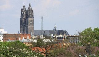 430 steps that are well worth the climb - when the AV-TEST team ascended the North Tower of Magdeburg Cathedral