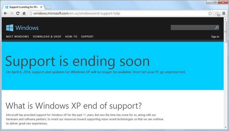 The end is nigh for windows xp: these anti-virus software products.