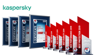 AV-TEST Award 2019 for Kaspersky