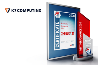 AV-TEST Award 2020 para K7 Computing